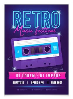 Plakat muzyki retro