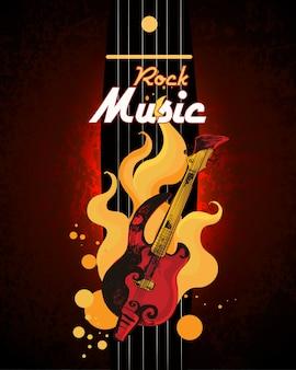 Plakat muzyki rockowej