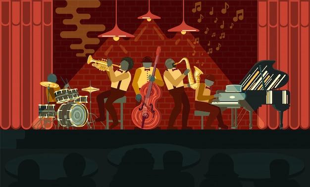 Plakat na dzień jazzu 30 kwietnia