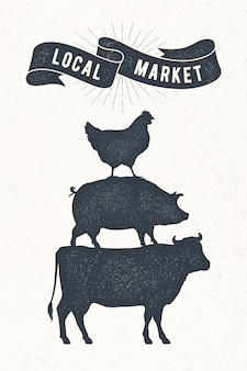 Plakat na lokalny rynek.