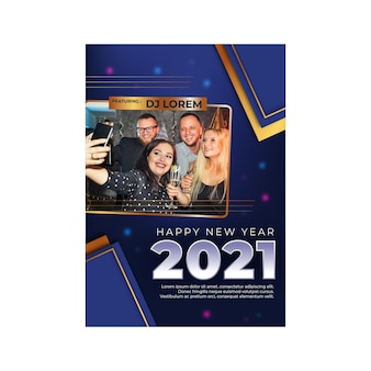 Plakat na nowy rok 2021 a4