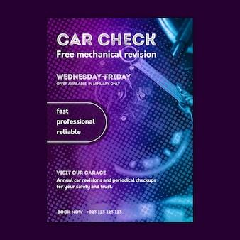 Plakat naprawy samochodu mechanika