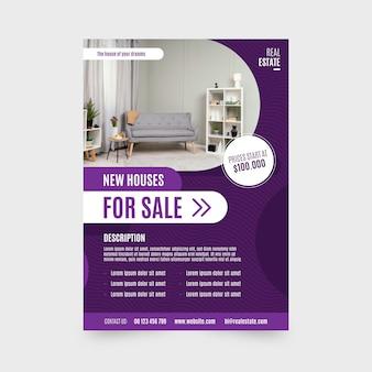 Plakat nieruchomości ze zdjęciem
