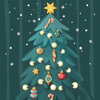 Plakat nowego roku. plakat noworoczny