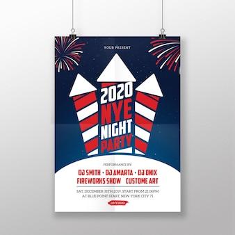 Plakat nowego roku