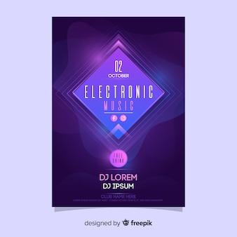 Plakat nowoczesnej muzyki elektronicznej