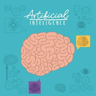 Plakat o sztucznej inteligencji