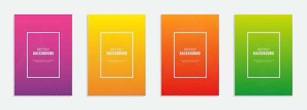 Plakat okładkowy a4 z linią gradientu i geomtriki