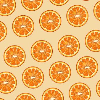 Plakat owoców cytrusowych z wzorem pomarańczy