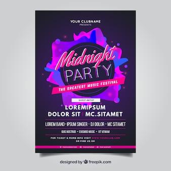 Plakat party o północy