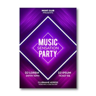 Plakat party streszczenie stylu