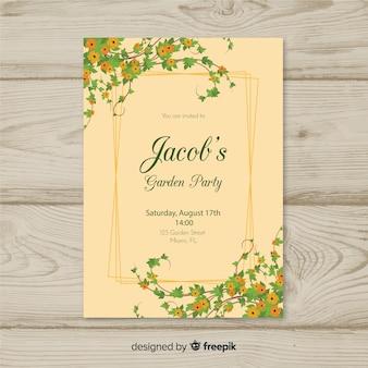 Plakat party wiosna winorośli
