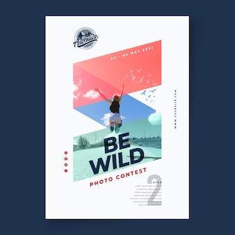 Plakat pionowy dzikiej przyrody