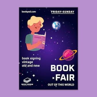 Plakat pionowy światowego dnia książki