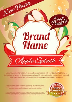 Plakat plakatu jabłko