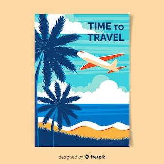 Plakat płaski rocznika podróży