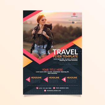 Plakat podróżny ze zdjęciem