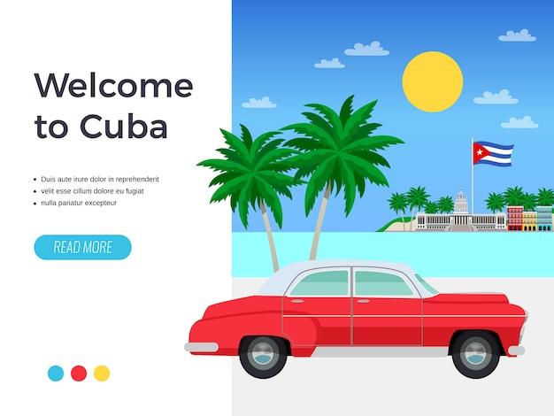 Plakat podróży kuby