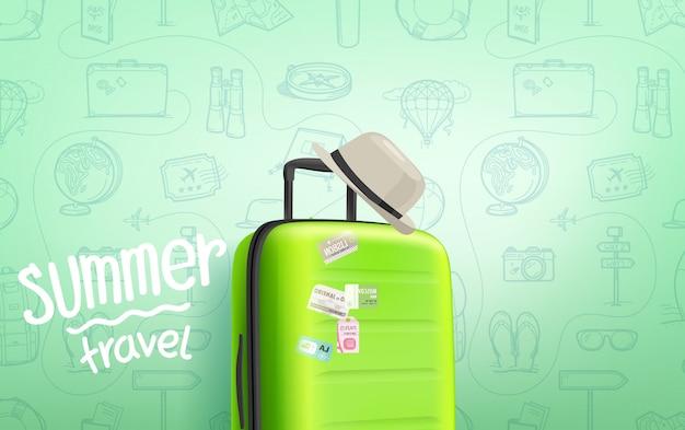 Plakat podróży letnich