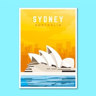 Plakat podróży wakacje sydney