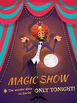 Plakat pokazu magii