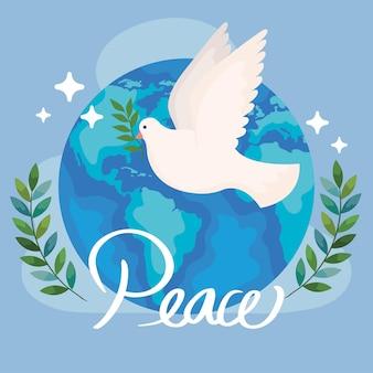 Plakat pokoju na świecie