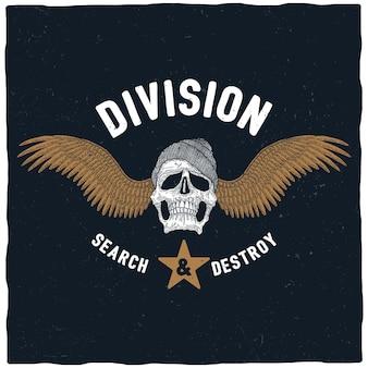 Plakat poszukiwanie i niszczenie dywizji