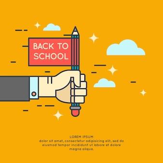 Plakat powrót do szkoły. nowoczesna grafika
