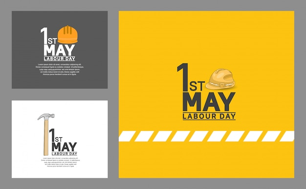 Plakat projekt wektor dzień pracy