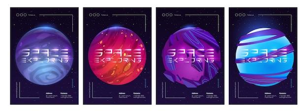 Plakat przedstawiający eksplorację kosmosu