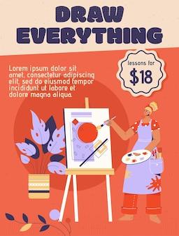 Plakat przedstawiający koncepcję draw everything