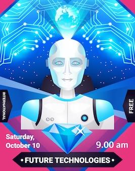 Plakat przyszłych technologii