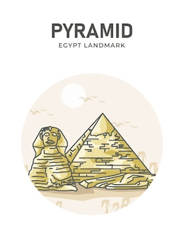 Plakat punkt orientacyjny piramidy egipskiej