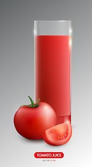 Plakat realistyczny sok warzywny