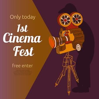 Plakat reklamowy festiwalu filmowego