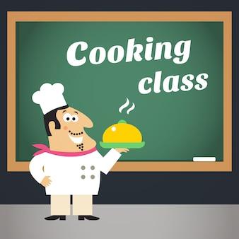 Plakat reklamowy klasy gotowania