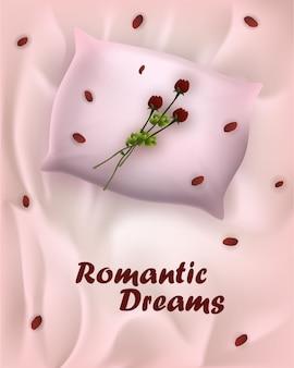 Plakat reklamowy mody napisane romantyczne marzenia