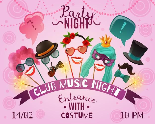Plakat reklamowy night party