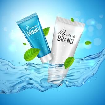 Plakat reklamowy produktu kosmetycznego