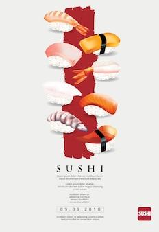 Plakat restauracja sushi ilustracji wektorowych