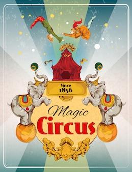 Plakat retro cyrku