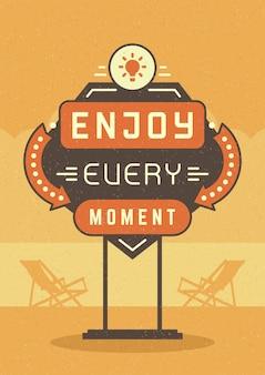 Plakat retro cytat typograficzne cytat plakat