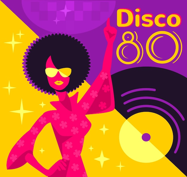 Plakat retro disco.