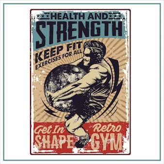 Plakat retro gym