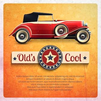 Plakat retro samochodów