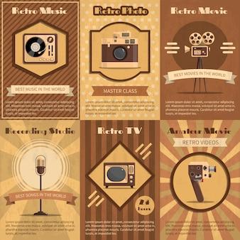 Plakat retro urządzenia