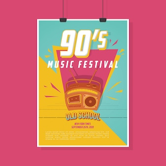 Plakat retro vintage music festival