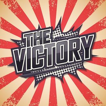 Plakat retro, zwycięstwo.