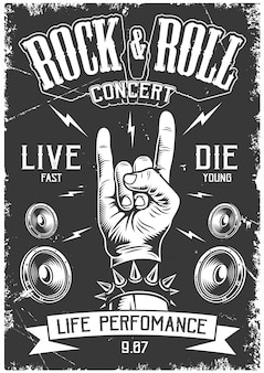 Plakat rock and roll