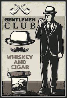 Plakat rocznika brytyjski dżentelmen